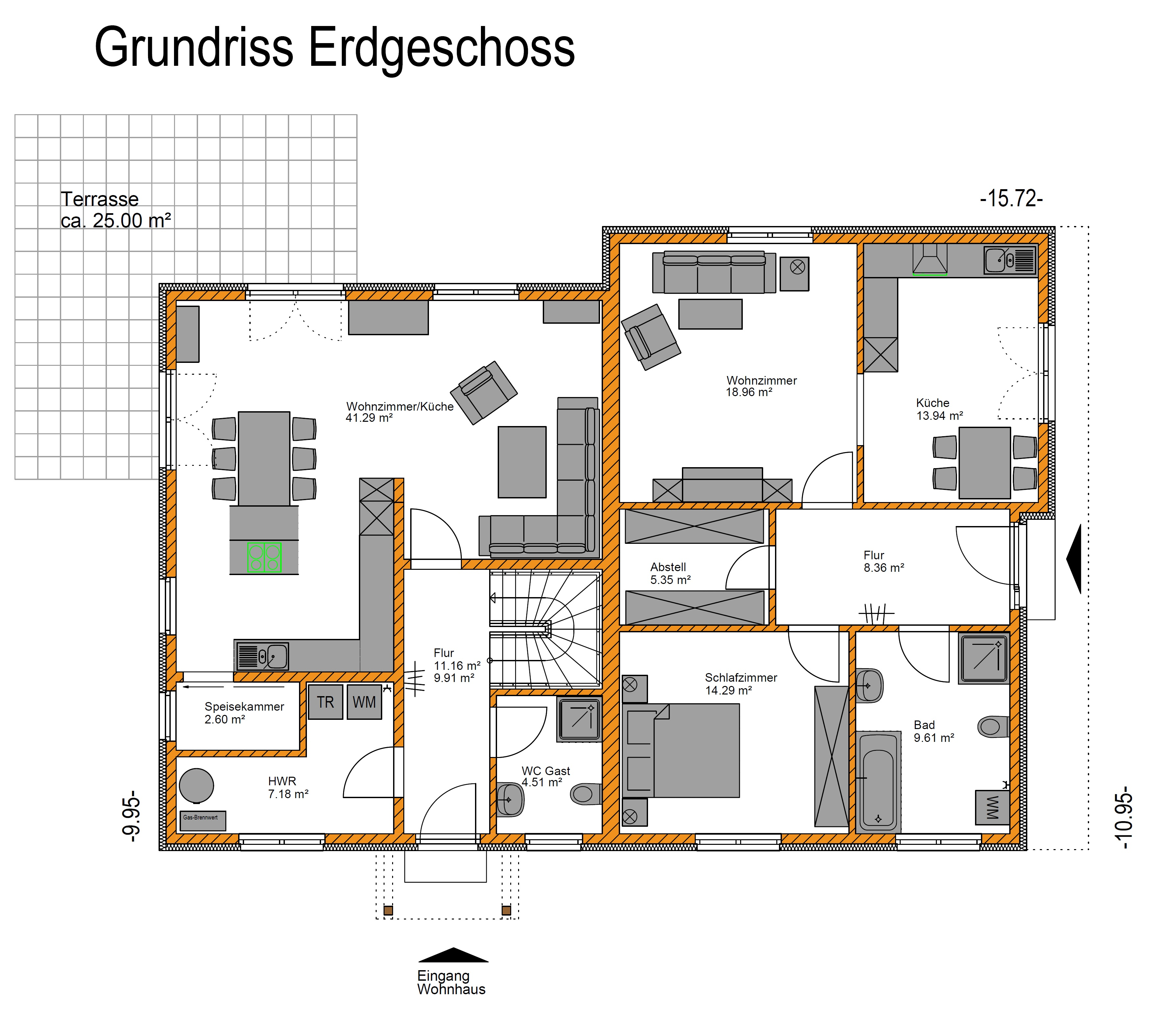 Einfamilienhaus Mit Fertigteilgarage Und Geräteschuppen In: Stadtvilla Mit Einliegerwohnung Und Carport